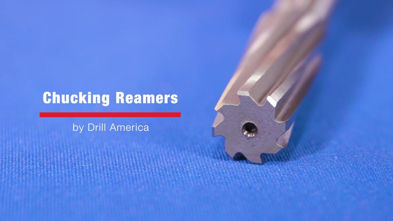 "Drill America 27//64/"" High Speed Steel Straight Shank Spiral Flute Chucking Reame"