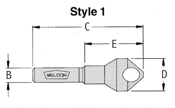 "WELDB-26 5/16""-25/32"" 90 degree Deburring Tool"