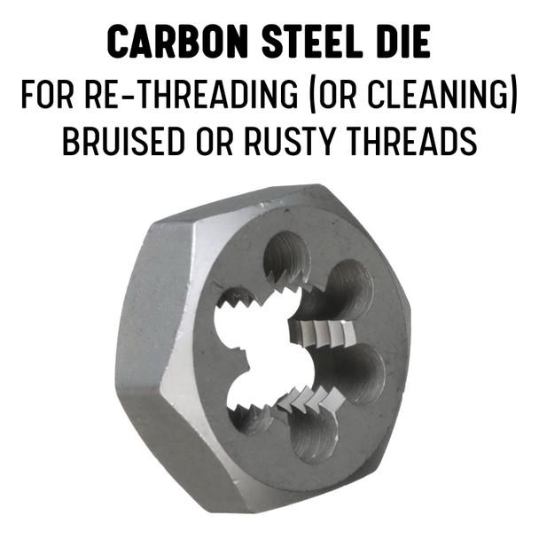 """1-1//4/""""-18 Carbon Steel Hex Die"""