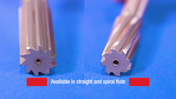 Bright 38 Straight Uncoated Carbide Wire Chucking Reamer