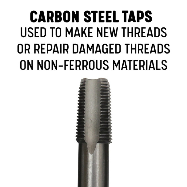 "1//2/"" Carbon Steel Npt Tap And 23//32/"" Hss Drill Bit Qualtech Pou1//2Nptw//Drill"