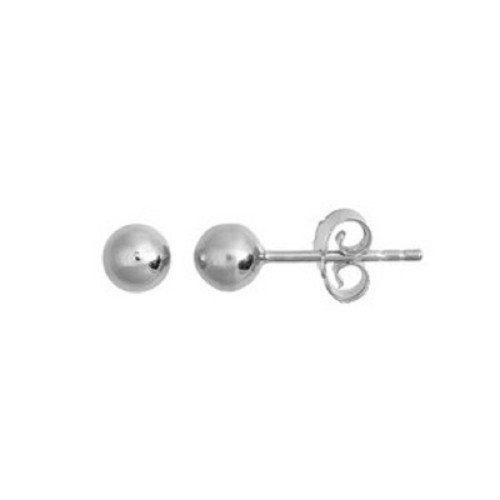 Sterling Silver 5mm Polished Ball Stud Earrings