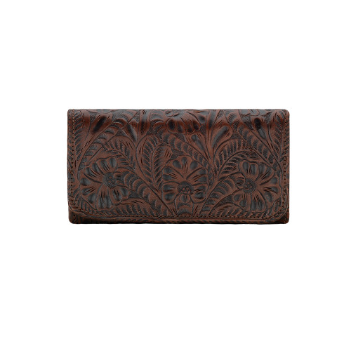 American West Annie's Secret Collection Ladies' Tri-fold Wallet Chestnut
