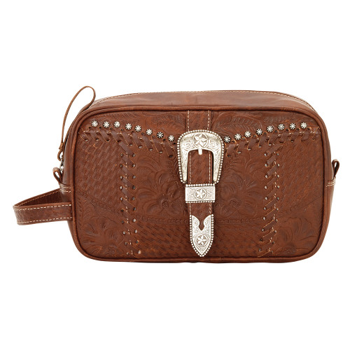 American West Retro Romance Leather Dop/Shaving Kit