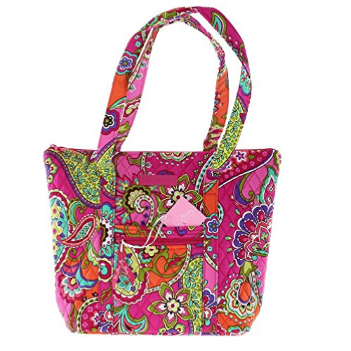 Vera Bradley Villager Shoulder Bag in Pink Swirl