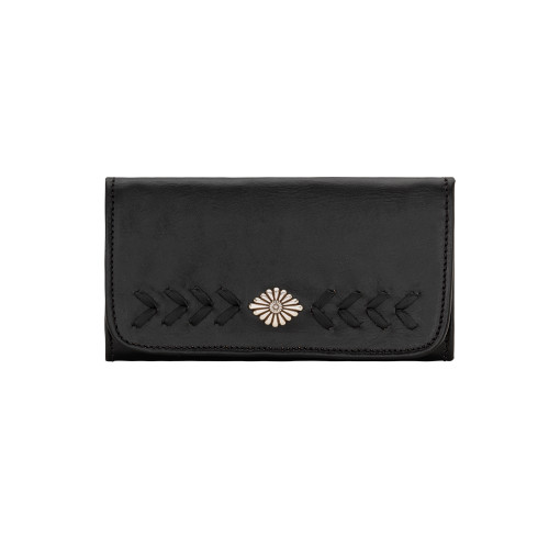American West Mohave Canyon Ladies' Tri-Fold Wallet Black