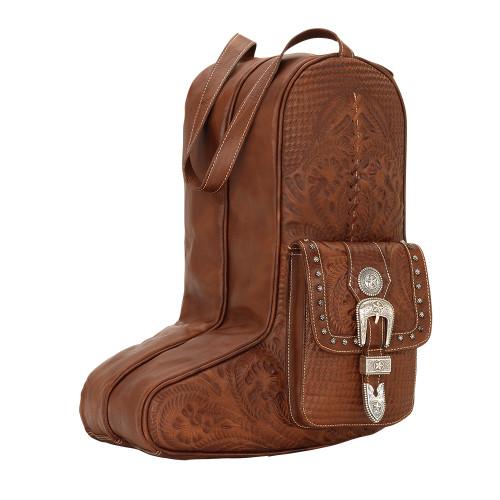 American West Unisex Retro Romance Travel Boot Bag - Antique Brown