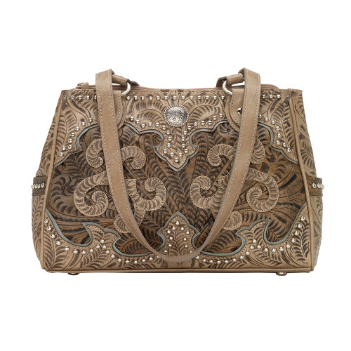 American West Annie's Secret Collection Multi-compartment Tote Secret Pocket - Sand