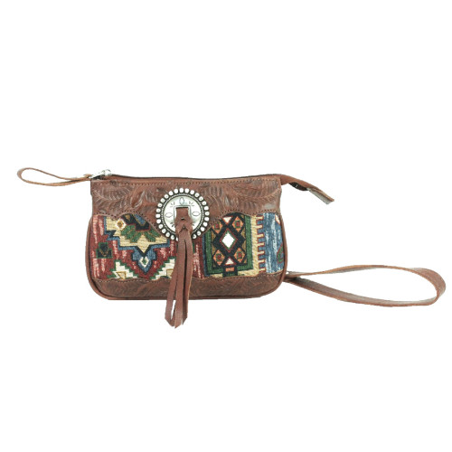 American West Bella Beau Leather Event Bag - Brown
