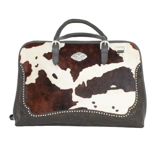 American West Pendleton Pony Leather Zip Around Smart Briefcase