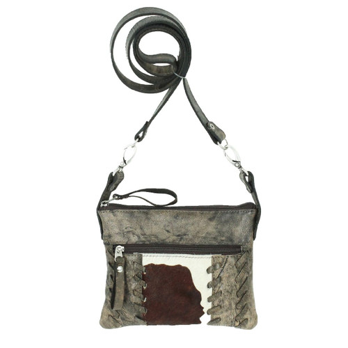 American West Pendleton Pony Leather Trail Rider Crossbody / Hip Bag