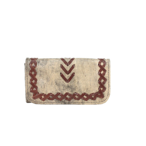American West Wood River Leather Tri-Fold Wallet