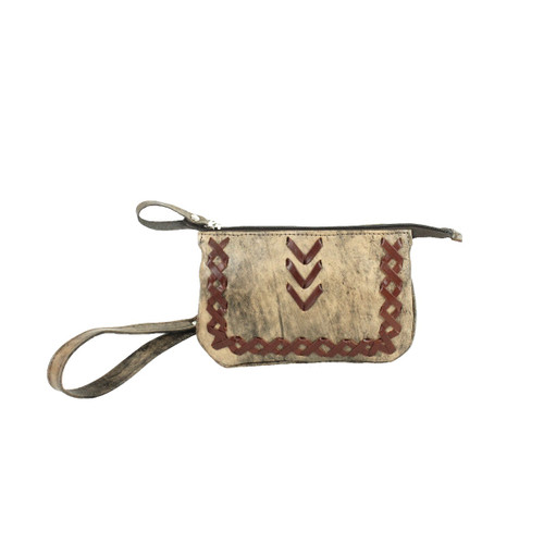 American West Wood River Leather Event Bag/Clutch/Wallet - Rodeos, Sporting Events, Concerts