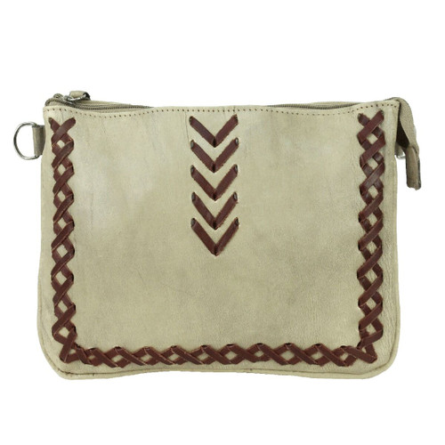 American West Wood River Leather Multi-Compartment Crossbody