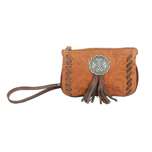 American West Lariats & Lace Leather Event Bag Wristlet/Clutch/Wallet - Rodeos, Sporting Events, Concerts