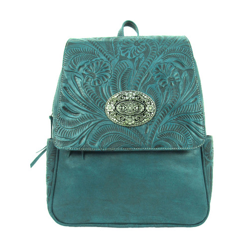 American West Lariats & Lace Leather Backpack Purse