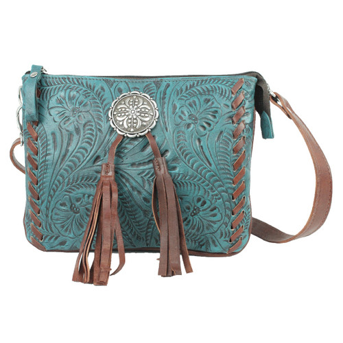 American West Lariats & Lace Multi-Compartment Crossbody Bag