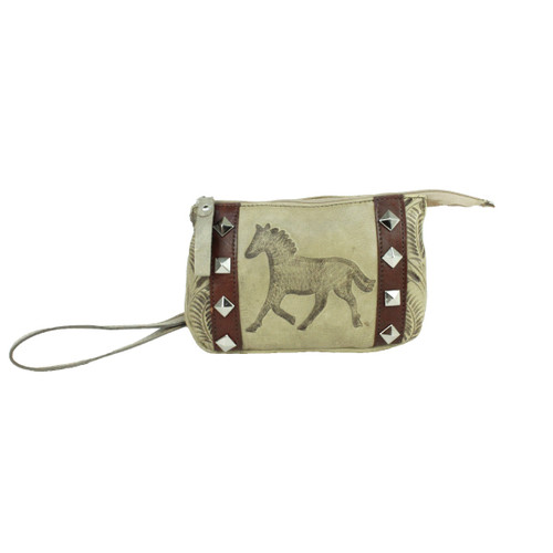 American West Hitchin' Post Leather Event Bag Wristlet - Rodeos, Sporting Events, Concerts
