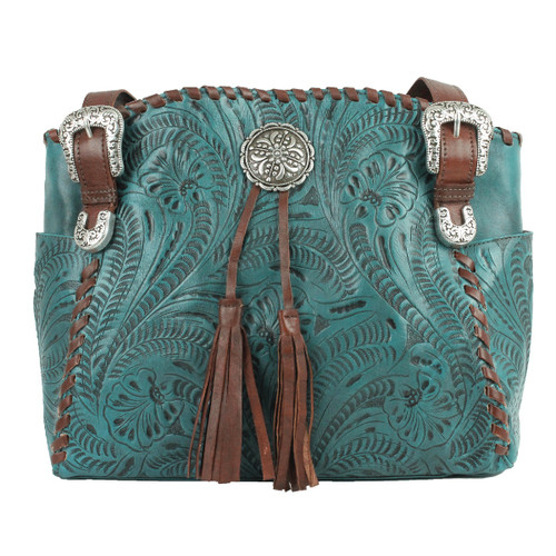 American west Lariats & Lace Leather Leather Tote - Conceal & Carry Pocket