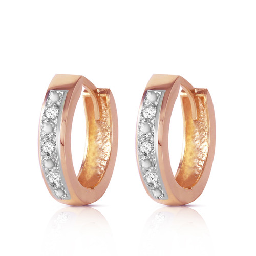 Galaxy Gold 0.04 Carat Diamond Hoop Huggie Earrings in 14K Gold