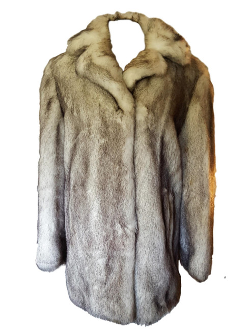 Marvin Richards Faux Fur 3/4 Coat - Gorgeous Color - Made in USA