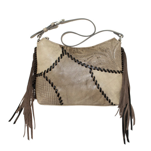 American West Womens Gypsy Patch Zip Top Shoulder Bag
