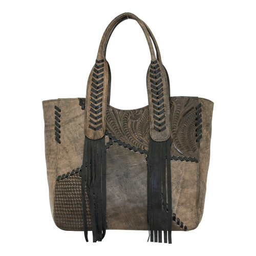 American West Womens Gypsy Patch Large Zip-Top Tote