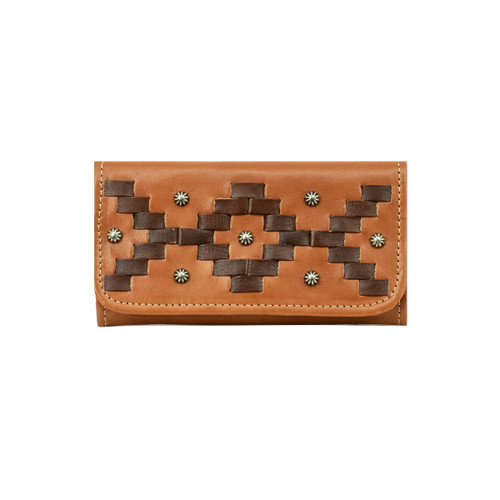 American West Womens Tribal Weave Tri-Fold Wallet