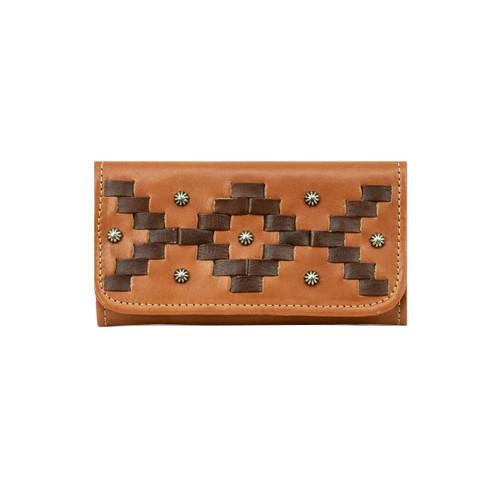American West Womens Tribal Weave Tri-Fold Wallet