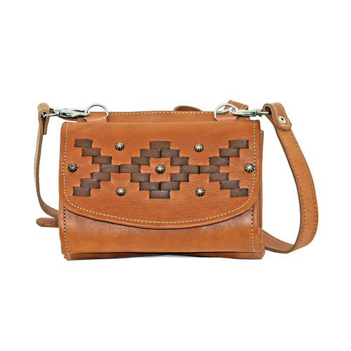 American West Womens Tribal Weave Small Crossbody Bag/Wallet