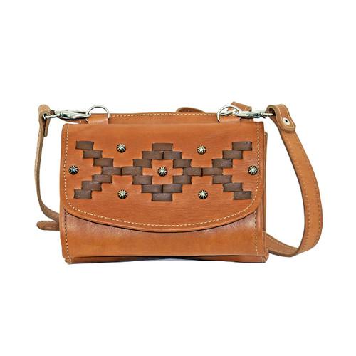 American West Womens Tribal Weave Small Crossbody Bag/Wallet