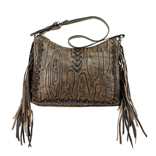 American West Womens Driftwood Zip Top Shoulder Bag