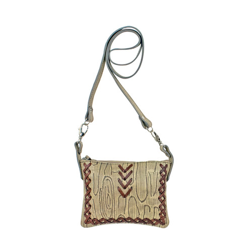 American West Womens Driftwood Trail Rider Crossbody/Hip Bag
