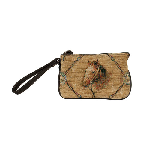 American West Women Bridle and Bits Tapestry Event Approved Bag/Wristlet
