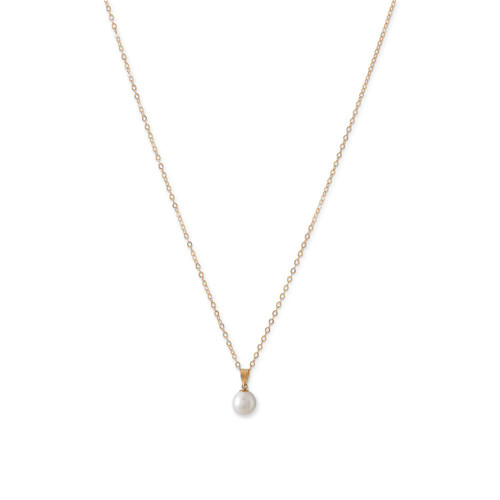 14 Karat Gold Cultured Freshwater Pearl Necklace