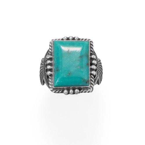 Michael Calladitto Men's Bold Turquoise Native American Navajo Ring