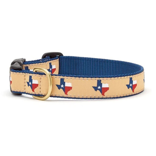Up Country Texas Navy Ribbon Dog Collar - All Sizes