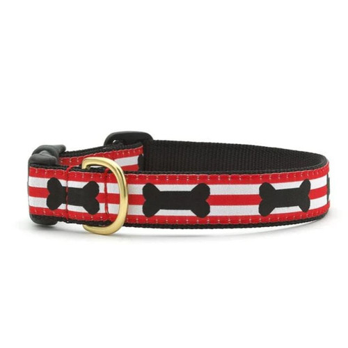 Up Country Got Bones Ribbon Dog Collar - All Sizes