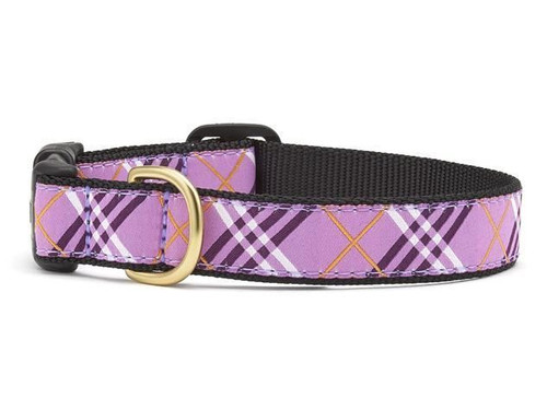 Up Country Lavender Lattice Ribbon Dog Collar - All Sizes