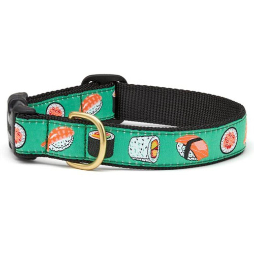 Up Country Sushi Ribbon Dog Collar - All Sizes