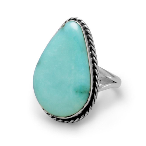 Sterling Silver Stabilized Freeform Turquoise Ring