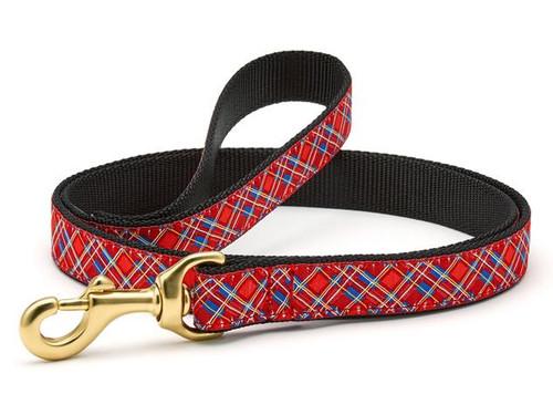 Up Country Stewart Plaid Ribbon Dog Lead Leash