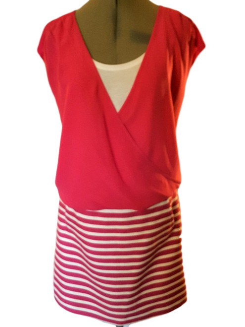 Pre-Owned Halogen Pink and White Skirt Set