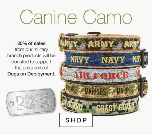Up Country Dogs on Deployment Canine Camo Collars