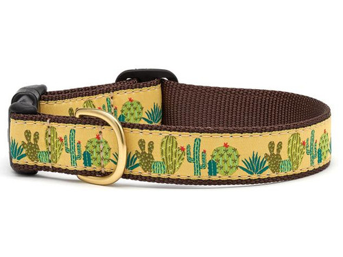 Up Country Succulents Ribbon Dog Collar