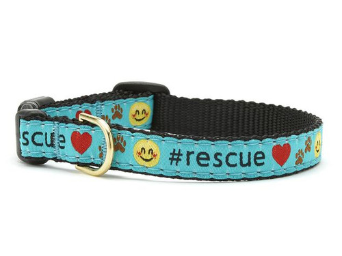 Up Country Rescue Teacup Ribbon Dog Collar
