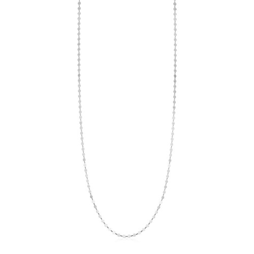 Sterling Silver Mirror Link Necklace