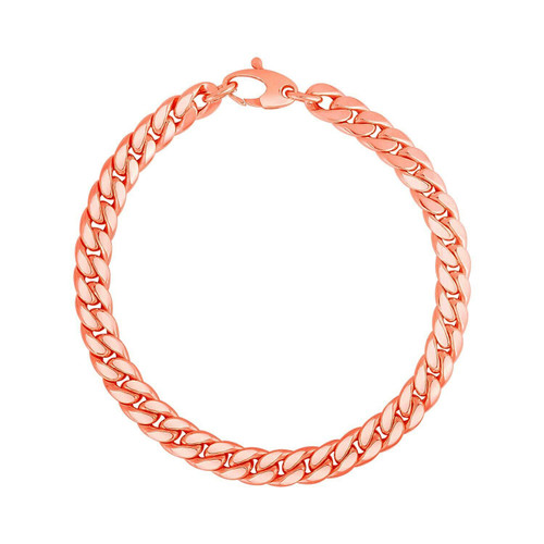 14K Rose Gold Cuban Link Bracelet