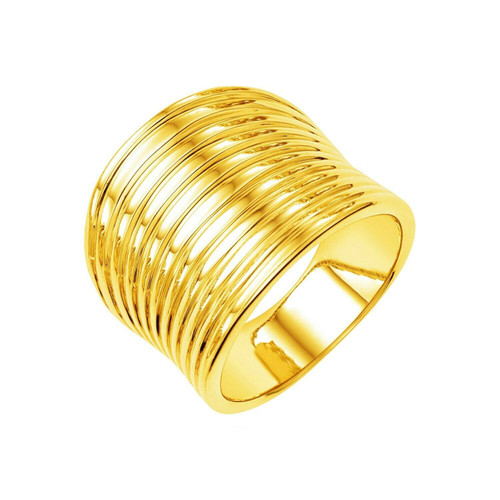 14k Yellow Gold Polished Multi Band Ring