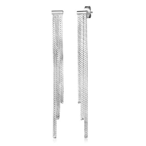 Sterling Silver Chain Tassel Earrings